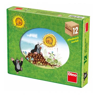 Dino Krtkův rok dřevěné kostky 12 ks