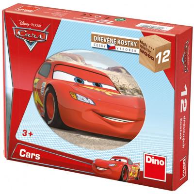Dino Auta/Cars ve světě dřevěné kostky 12 ks