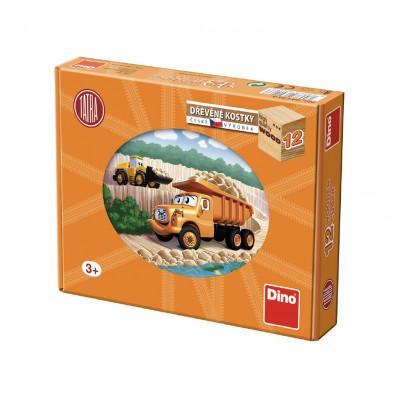 Dino Tatra dřevěné kostky 12 ks