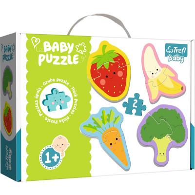 Trefl Puzzle baby Zelenina a ovoce 4v1 2 dílky 1+
