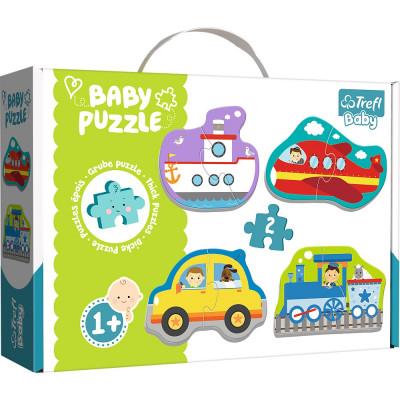 Trefl Puzzle baby Dopravní prostředky 4v1 2 dílky 1+