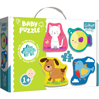 Trefl Puzzle baby Zvířátka 4v1 2 dílky 1+