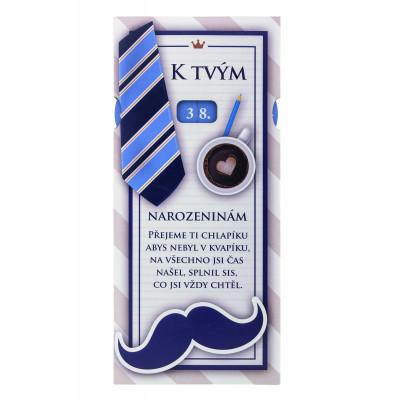 Dárková čokoláda s číslem 100 g - K narozeninám - pro muže