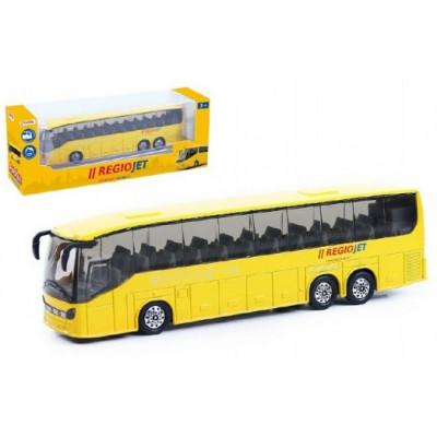 Rappa Autobus RegioJet kov/plast 18,5cm na zpětné natažení v krabičce
