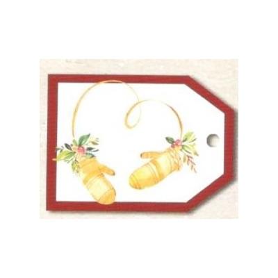 Vánoční kartičky na dárky - Rukavice