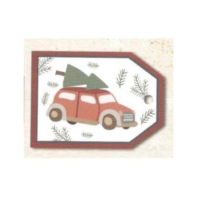 Vánoční kartičky na dárky - Auto