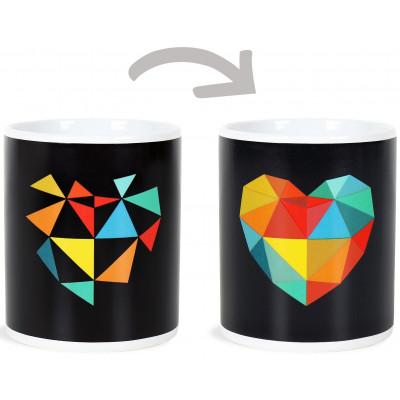 Albi Měnící hrnek - Designové srdce