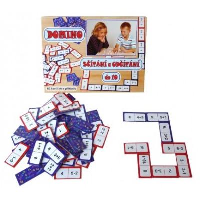 Voltik Domino sčítání a odčítání do 10 hra 60ks