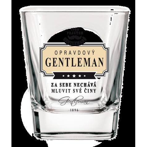 Gentleman Whisky sklenička - Opravdový gentleman za sebe nechává..