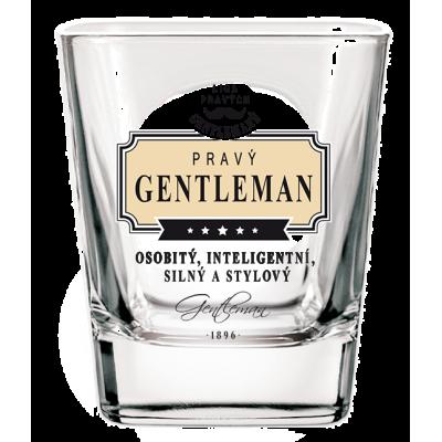 Gentleman Whisky sklenička - Pravý gentleman osobitý, inteligentní