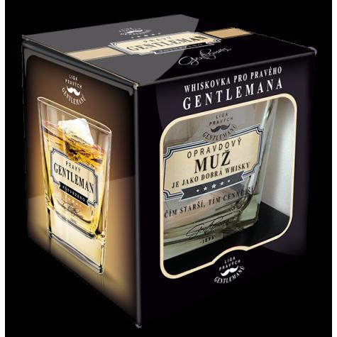 Gentleman Whisky sklenička - Opravdový muž je jako dobrá whisky