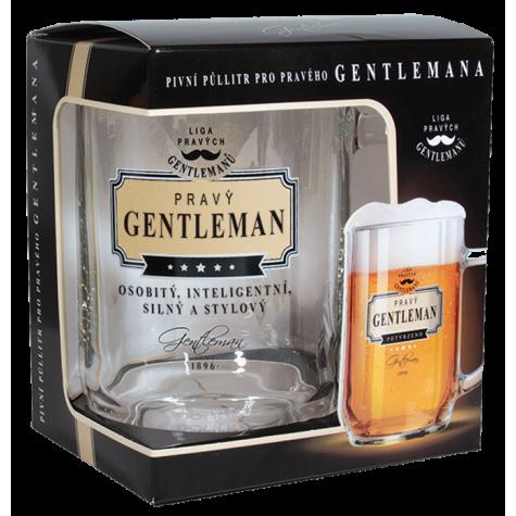 Gentleman Pivní sklenice - Pravý gentleman osobitý, inteligentní