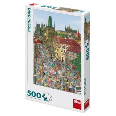 Dino Mostecká věž puzzle 500 dílků