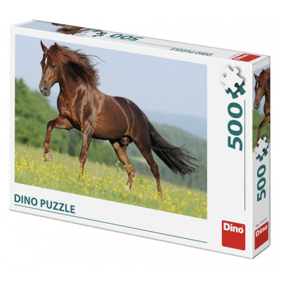 Dino Kůň na louce puzzle 500 dílků