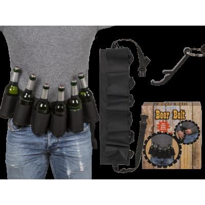 Pivní pás černý s otvírákem