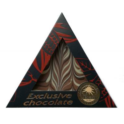 Mléčná čokoláda Exclusive trojúhelník 50g - Tříbarevná