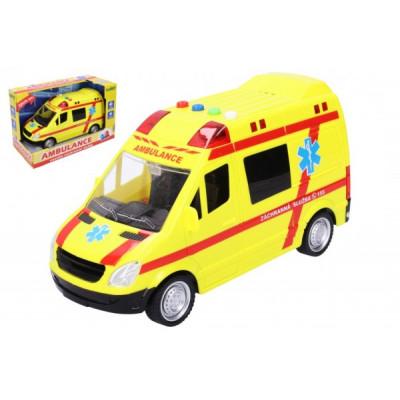 Wiky Auto ambulance záchranáři plast 21cm na baterie se světlem a zvukem