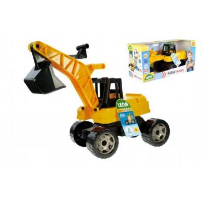 Lena Bagr žlutočerný Giga Trucks plast 70cm v krabici 70x35x29cm