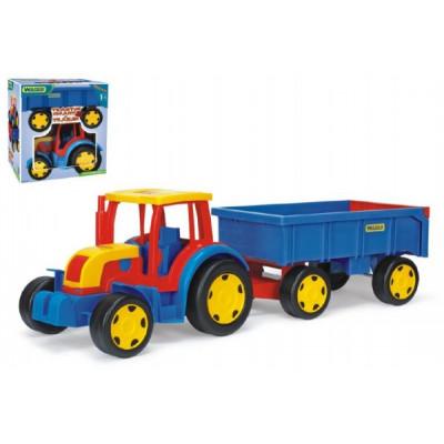 Wader Traktor Gigant s vlečkou plast 102cm
