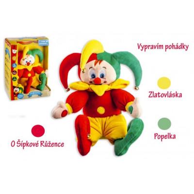 Teddies Kašpárek česky mluvící pohádky plyš 30 cm na baterie