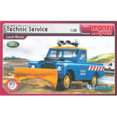 Stavebnice Monti 01 Technic service Land rover 1:35