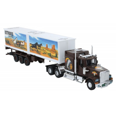 Stavebnice Monti System 25 Intrans Container Western star 1:48