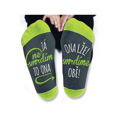 Dámské ponožky - Já nesmrdím - vel. 39-42