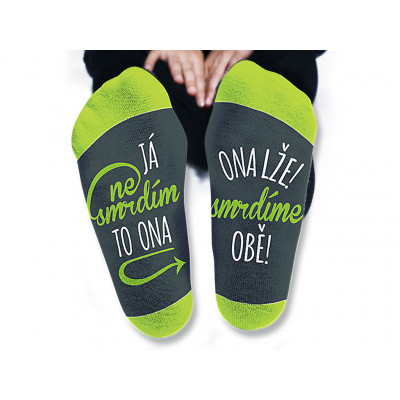 Pánské ponožky - Já nesmrdím - vel. 43-46