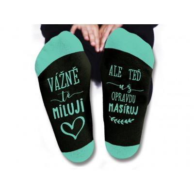 Dámské ponožky - Vážně tě miluji - vel. 39-42