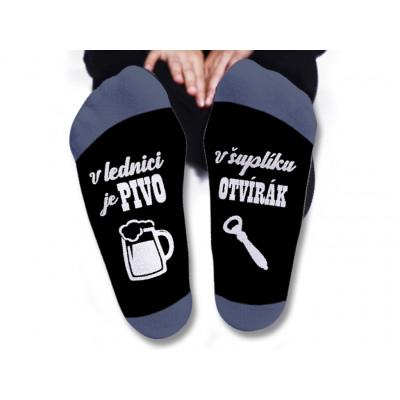 Pánské ponožky - V lednici je pivo - vel. 43-46