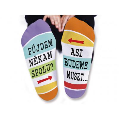 Dámské ponožky - Půjdem někam spolu - vel. 39-42