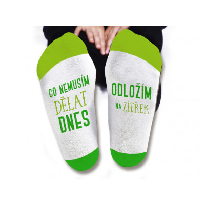 Pánské ponožky - Co nemusím dělat dnes - vel. 43-46
