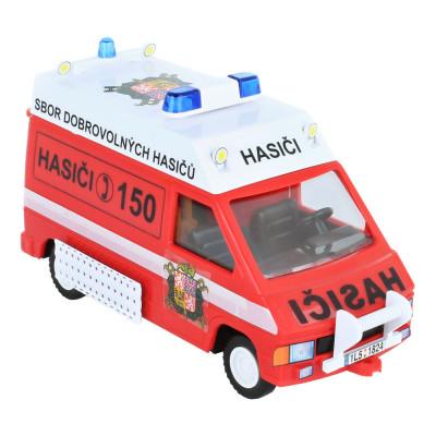 Stavebnice Monti System 45 Fire Brigade-Renault Trafic 1:35