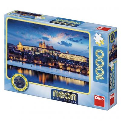 Dino Pražský hrad neon puzzle 1000 dílků