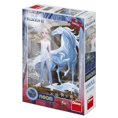 Dino Frozen II/Ledové království II neon puzzle 100XL dílků