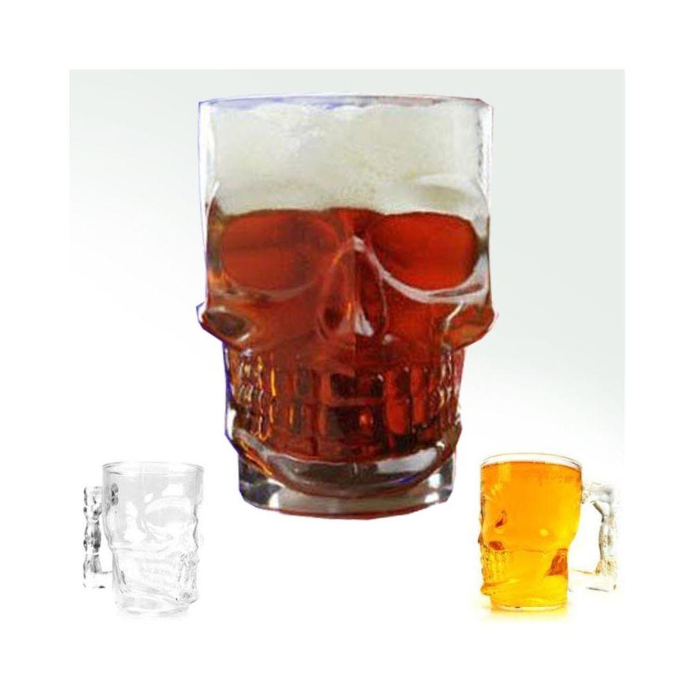 Pivní sklenice lebka 500 ml