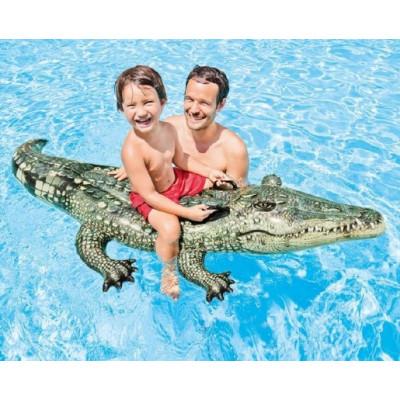 Intex 57551 Lehátko Krokodýl nafukovací s úchyty 170x86cm