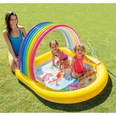Intex 57156 Bazén nafukovací duha stříkací
