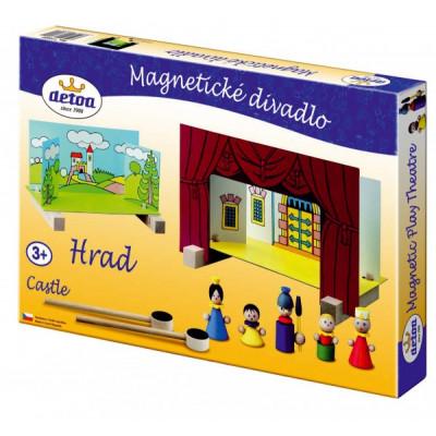 Detoa Divadlo Hrad magnetické dřevěné s figurkami