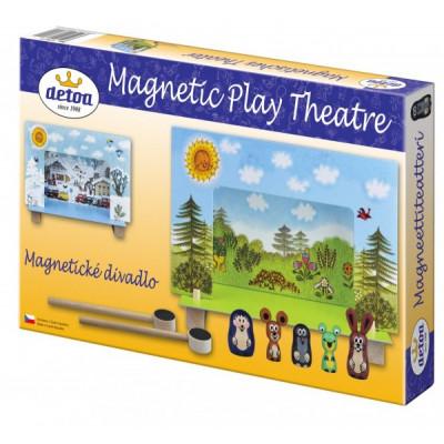 Detoa Divadlo Krtek magnetické dřevěné s figurkami