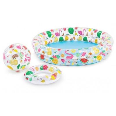 Intex 59460 Sada dětský bazén 122x25cm+kruh+míč