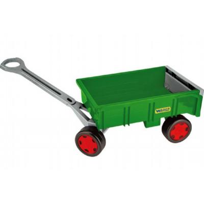 Wader Vozík/Vlečka zelená dětská plast 95cm Farmer nosnost 60kg 12m+