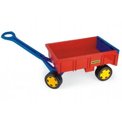 Wader Vozík/Vlečka červená dětská plast 95cm Farmer nosnost 60kg 12m+