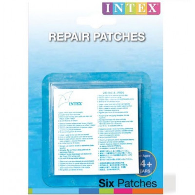 Intex 59631 Záplata k nafukovačkám 6ks na kartě 12x16cm