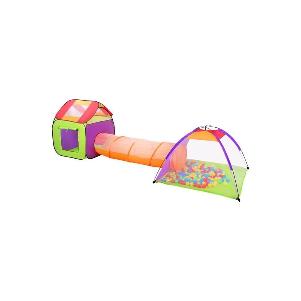 Dětský stanový set se spojovacím tunelem + 200 míčků