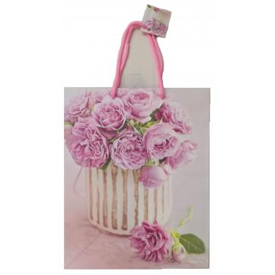 Dárková taška - Květiny - velká 26x33