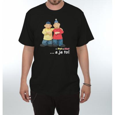 Tričko - Pat a Mat - Gesto a je to - černé
