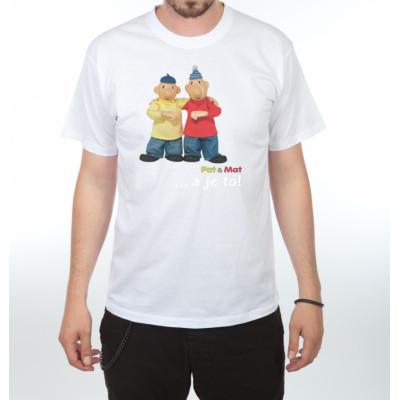 Tričko - Pat a Mat - Gesto a je to - bílé