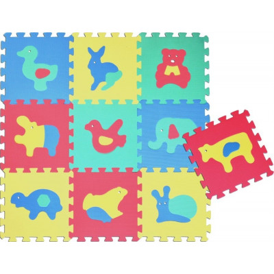 Wiky Pěnové puzzle Zvířata 30x30cm 10ks