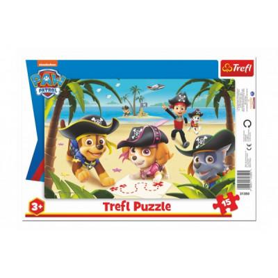 Trefl Puzzle deskové Přátelé z Tlapkové patroly 15 dílků